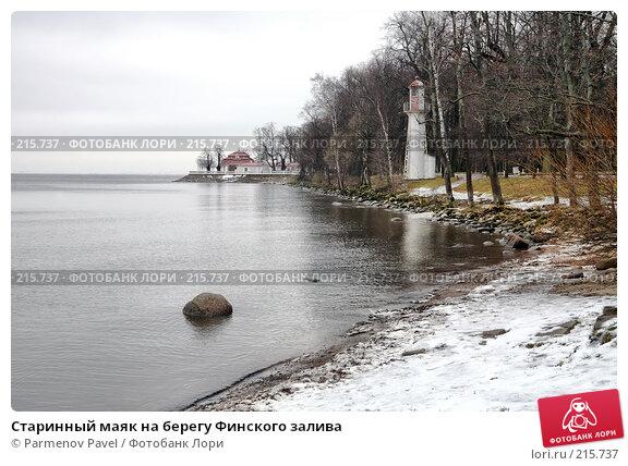 Старинный маяк на берегу Финского залива, фото № 215737, снято 13 февраля 2008 г. (c) Parmenov Pavel / Фотобанк Лори
