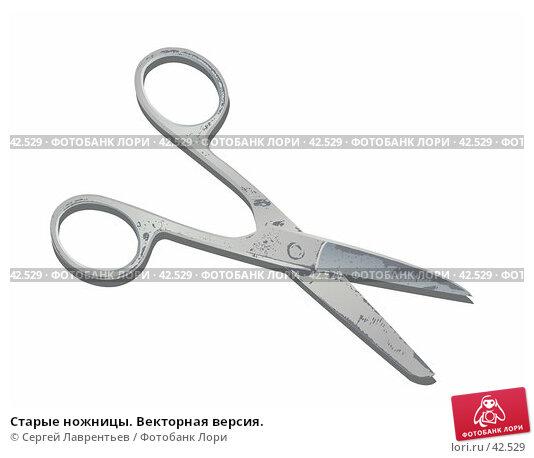 Старые ножницы. Векторная версия., иллюстрация № 42529 (c) Сергей Лаврентьев / Фотобанк Лори