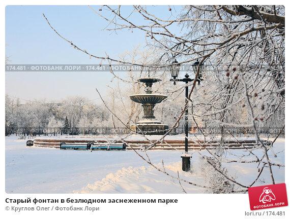Старый фонтан в безлюдном заснеженном парке, фото № 174481, снято 12 января 2008 г. (c) Круглов Олег / Фотобанк Лори