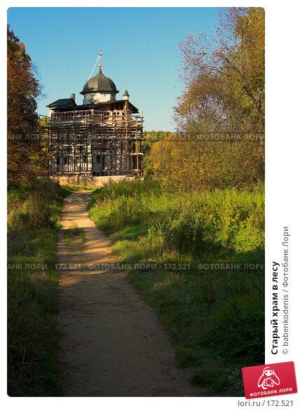 Купить «Старый храм в лесу», фото № 172521, снято 24 сентября 2006 г. (c) Бабенко Денис Юрьевич / Фотобанк Лори