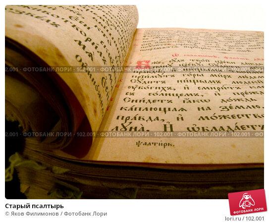 Старый псалтырь, фото № 102001, снято 18 августа 2017 г. (c) Яков Филимонов / Фотобанк Лори