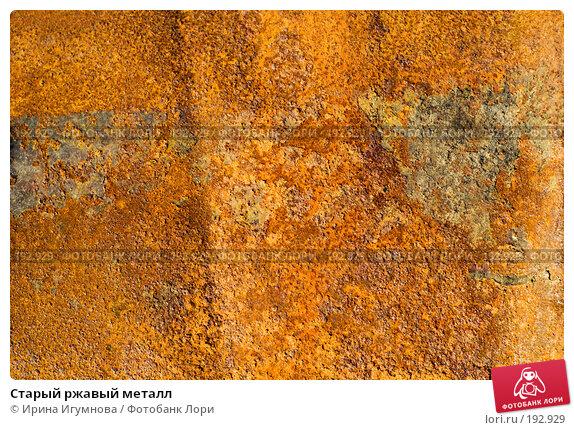 Старый ржавый металл, фото № 192929, снято 28 ноября 2007 г. (c) Ирина Игумнова / Фотобанк Лори