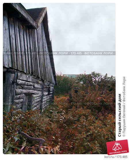 Купить «Старый сельский дом», фото № 173485, снято 25 апреля 2018 г. (c) Парушин Евгений / Фотобанк Лори
