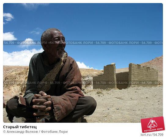 Старый тибетец, фото № 54709, снято 5 мая 2006 г. (c) Александр Волков / Фотобанк Лори