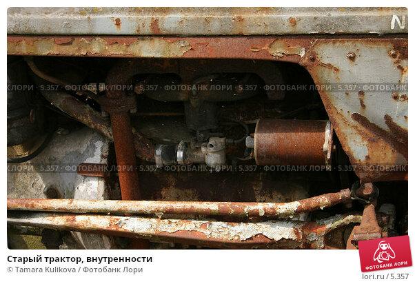 Старый трактор, внутренности, фото № 5357, снято 8 июля 2006 г. (c) Tamara Kulikova / Фотобанк Лори