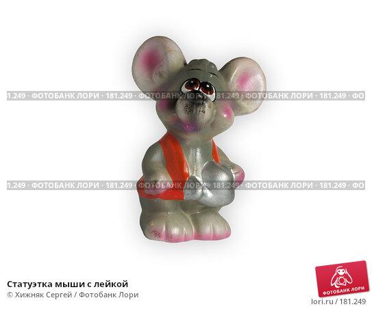 Купить «Статуэтка мыши с лейкой», фото № 181249, снято 19 января 2008 г. (c) Хижняк Сергей / Фотобанк Лори