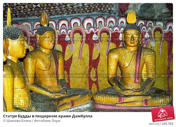 Статуи Будды в пещерном храме Дамбулла, фото № 249765, снято 28 апреля 2017 г. (c) Шилова Елена / Фотобанк Лори