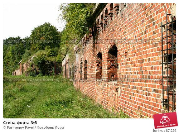 Стена форта №5, фото № 87229, снято 7 сентября 2007 г. (c) Parmenov Pavel / Фотобанк Лори