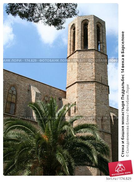 Стена и башня монастыря Педральбес 14 века в Барселоне, фото № 174829, снято 20 сентября 2005 г. (c) Солодовникова Елена / Фотобанк Лори