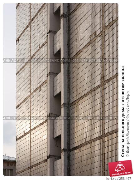 Стена панельного дома с отсветом солнца, фото № 253497, снято 22 марта 2008 г. (c) Дмитрий Яковлев / Фотобанк Лори