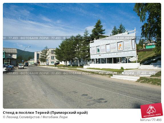 Стенд в посёлке Терней (Приморский край), фото № 77493, снято 2 июля 2007 г. (c) Леонид Селивёрстов / Фотобанк Лори