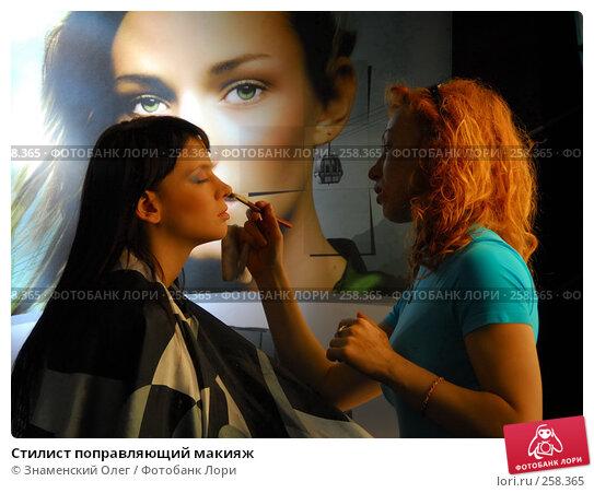 Купить «Стилист поправляющий макияж», эксклюзивное фото № 258365, снято 13 апреля 2008 г. (c) Знаменский Олег / Фотобанк Лори