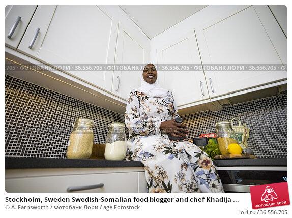 Stockholm, Sweden Swedish-Somalian food blogger and chef Khadija ... Редакционное фото, фотограф A. Farnsworth / age Fotostock / Фотобанк Лори