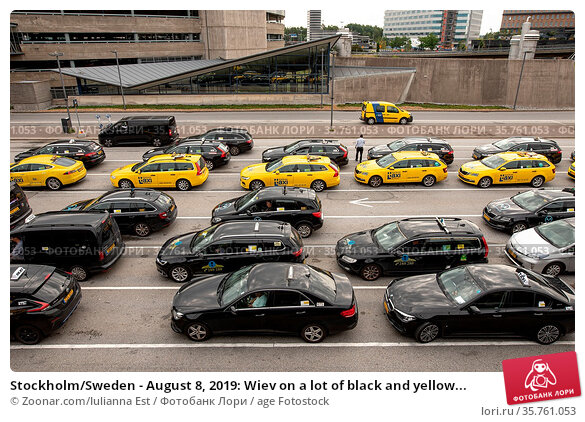 Stockholm/Sweden - August 8, 2019: Wiev on a lot of black and yellow... Стоковое фото, фотограф Zoonar.com/Iulianna Est / age Fotostock / Фотобанк Лори