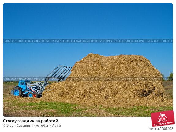 Стогоукладчик за работой, фото № 206093, снято 7 сентября 2004 г. (c) Иван Сазыкин / Фотобанк Лори