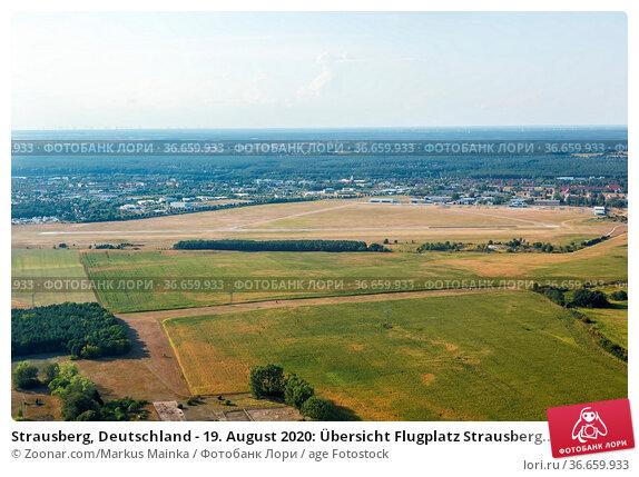 Strausberg, Deutschland - 19. August 2020: Übersicht Flugplatz Strausberg... Стоковое фото, фотограф Zoonar.com/Markus Mainka / age Fotostock / Фотобанк Лори