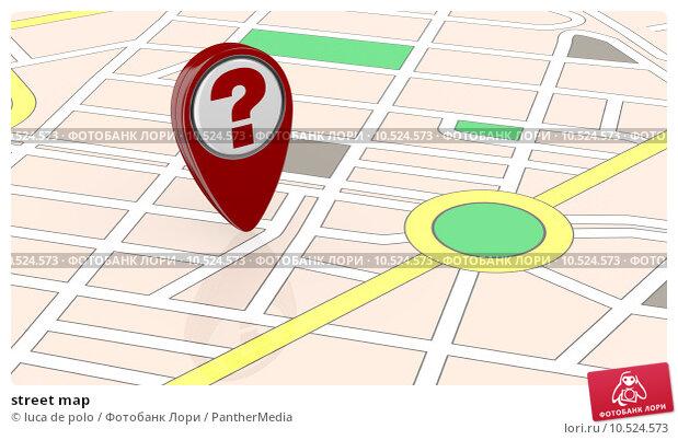 Купить «street map», фото № 10524573, снято 19 октября 2018 г. (c) PantherMedia / Фотобанк Лори