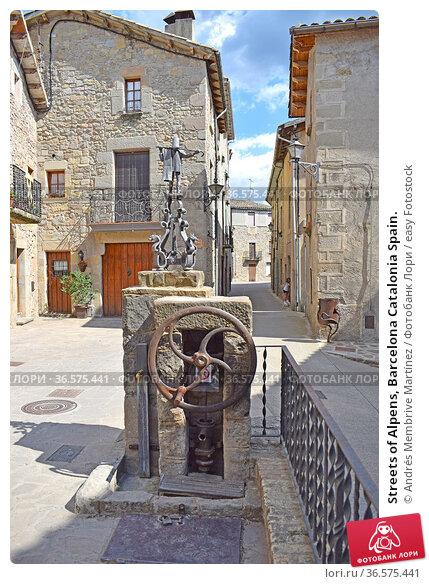 Streets of Alpens, Barcelona Catalonia Spain. Стоковое фото, фотограф Andrés Membrive Martínez / easy Fotostock / Фотобанк Лори