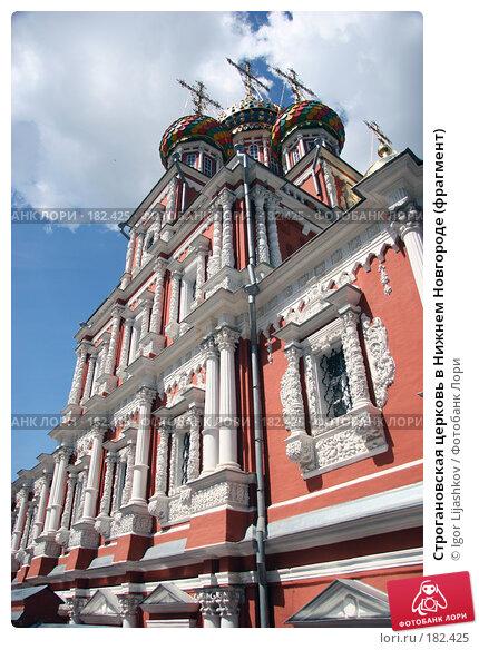 Строгановская церковь в Нижнем Новгороде (фрагмент), фото № 182425, снято 14 декабря 2004 г. (c) Igor Lijashkov / Фотобанк Лори