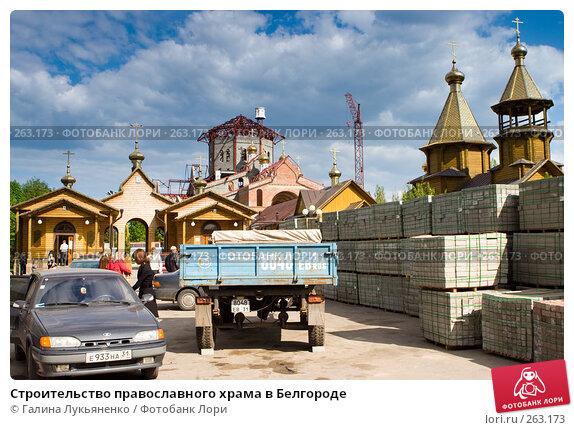 Строительство православного храма в Белгороде, эксклюзивное фото № 263173, снято 26 апреля 2008 г. (c) Галина Лукьяненко / Фотобанк Лори