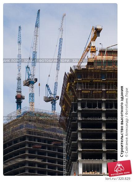 Строительство высотного здания, эксклюзивное фото № 320829, снято 1 мая 2008 г. (c) Сайганов Александр / Фотобанк Лори