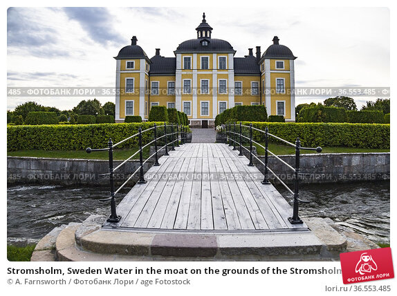 Stromsholm, Sweden Water in the moat on the grounds of the Stromsholms... Стоковое фото, фотограф A. Farnsworth / age Fotostock / Фотобанк Лори