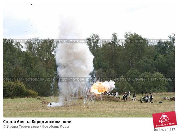 Сцена боя на Бородинском поле, эксклюзивное фото № 1137, снято 4 сентября 2005 г. (c) Ирина Терентьева / Фотобанк Лори