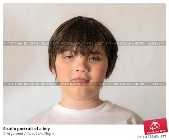 Купить «Studio portrait of a boy», фото № 32934877, снято 26 октября 2015 г. (c) Argument / Фотобанк Лори