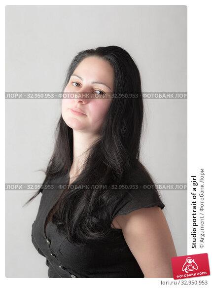 Studio portrait of a girl. Стоковое фото, фотограф Argument / Фотобанк Лори
