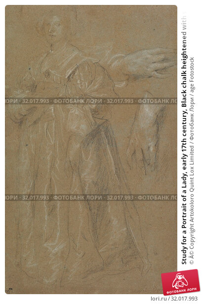 Купить «Study for a Portrait of a Lady, early 17th century, Black chalk heightened with white, 19 7/8 × 11 13/16 in. (50.5 × 30 cm), Cylinder seals, Anthony...», фото № 32017993, снято 22 мая 2017 г. (c) age Fotostock / Фотобанк Лори