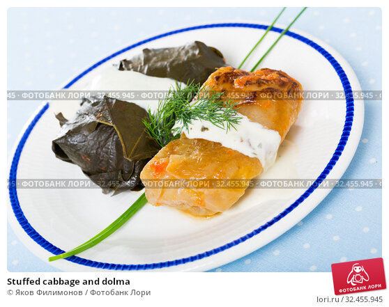 Купить «Stuffed cabbage and dolma», фото № 32455945, снято 24 января 2020 г. (c) Яков Филимонов / Фотобанк Лори