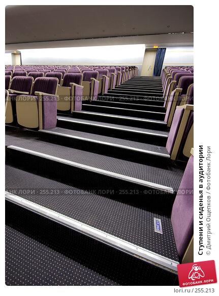 Ступени и сиденья в аудитории, фото № 255213, снято 12 апреля 2008 г. (c) Дмитрий Ощепков / Фотобанк Лори
