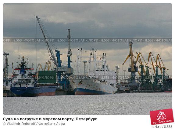 Суда на погрузке в морском порту, Петербург, фото № 8553, снято 5 сентября 2006 г. (c) Vladimir Fedoroff / Фотобанк Лори