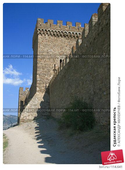 Купить «Судакская крепость», фото № 114641, снято 22 августа 2007 г. (c) АЛЕКСАНДР МИХЕИЧЕВ / Фотобанк Лори
