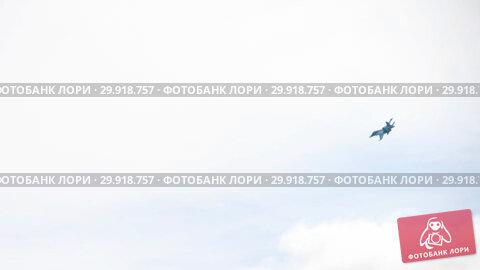 Купить «Sukhoi Su-34 Fullback during the demonstration flight», видеоролик № 29918757, снято 5 августа 2018 г. (c) Игорь Жоров / Фотобанк Лори