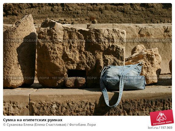 Сумка на египетских руинах, фото № 197969, снято 25 января 2008 г. (c) Суханова Елена (Елена Счастливая) / Фотобанк Лори
