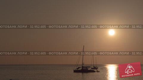 Sunset landscape at Phuket. Стоковое видео, видеограф Игорь Жоров / Фотобанк Лори