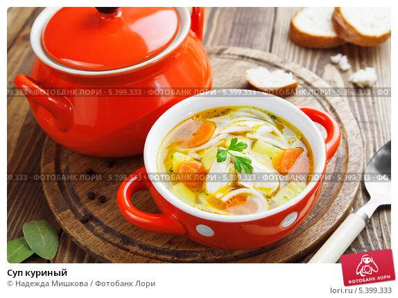 Купить «Суп куриный», фото № 5399333, снято 17 декабря 2013 г. (c) Надежда Мишкова / Фотобанк Лори