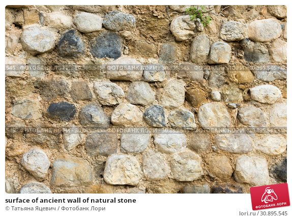 Купить «surface of ancient wall of natural stone», фото № 30895545, снято 24 октября 2017 г. (c) Татьяна Яцевич / Фотобанк Лори