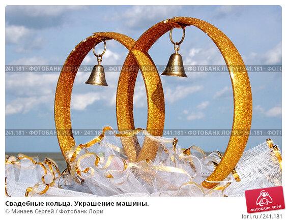 Свадебные кольца. Украшение машины., фото № 241181, снято 7 июля 2007 г. (c) Минаев Сергей / Фотобанк Лори