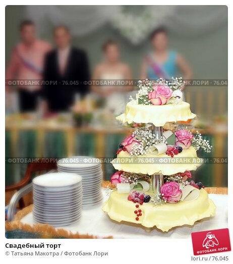 Свадебный торт, фото № 76045, снято 30 июня 2007 г. (c) Татьяна Макотра / Фотобанк Лори