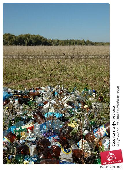 Свалка на фоне леса, фото № 91385, снято 5 августа 2005 г. (c) Куликова Татьяна / Фотобанк Лори