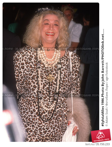 #SylviaMiles 1986.Photo By John Barrett/PHOTOlink.net..... Редакционное фото, фотограф Adam Scull / age Fotostock / Фотобанк Лори