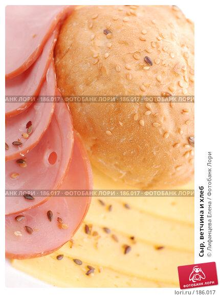 Сыр, ветчина и хлеб, фото № 186017, снято 24 января 2008 г. (c) Лифанцева Елена / Фотобанк Лори