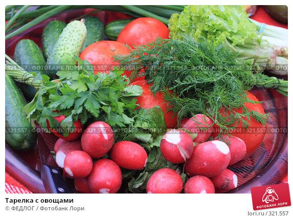 Тарелка с овощами, фото № 321557, снято 13 июня 2008 г. (c) ФЕДЛОГ.РФ / Фотобанк Лори