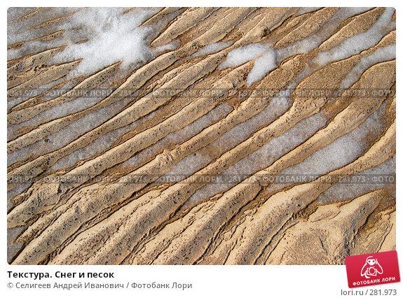 Купить «Текстура. Снег и песок», фото № 281973, снято 22 апреля 2007 г. (c) Селигеев Андрей Иванович / Фотобанк Лори