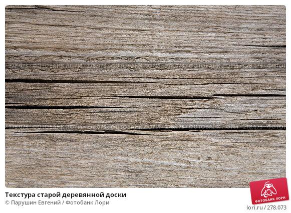 Купить «Текстура старой деревянной доски», фото № 278073, снято 18 марта 2018 г. (c) Парушин Евгений / Фотобанк Лори
