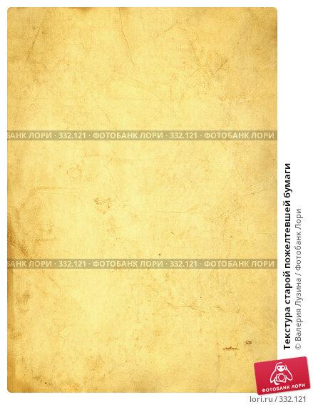Текстура старой пожелтевшей бумаги, фото № 332121, снято 12 января 2007 г. (c) Валерия Потапова / Фотобанк Лори