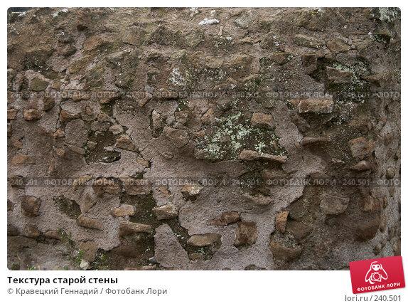 Текстура старой стены, фото № 240501, снято 28 мая 2017 г. (c) Кравецкий Геннадий / Фотобанк Лори