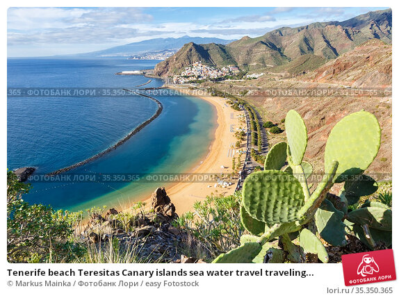 Tenerife beach Teresitas Canary islands sea water travel traveling... Стоковое фото, фотограф Markus Mainka / easy Fotostock / Фотобанк Лори